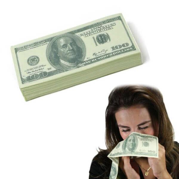 100 Dolláros Papírzsepi