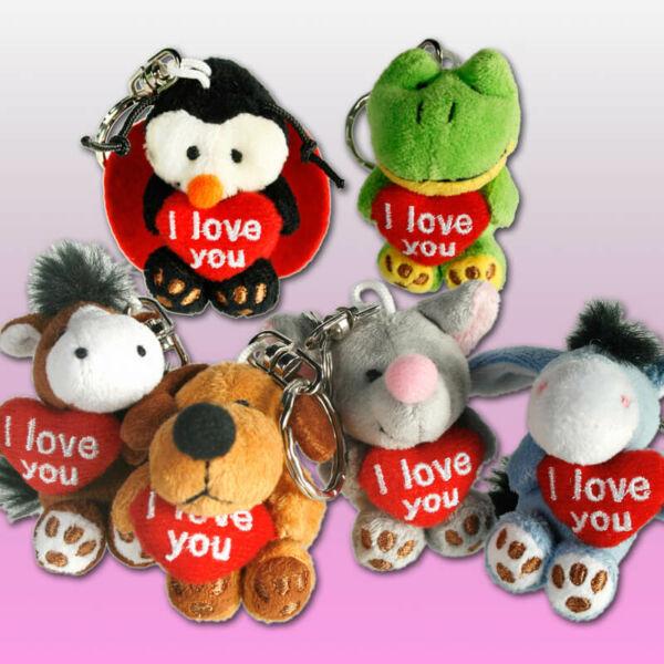 Állatira Szeretlek Kulcstartó