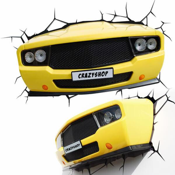 3D autós lámpa