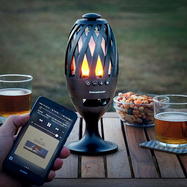 Bluetooth Hangszórós LED Fáklya