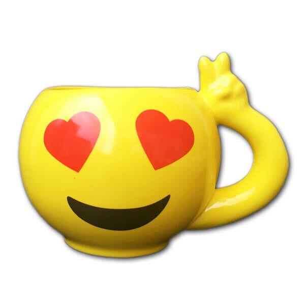 Emoji Bögre Szerelmes