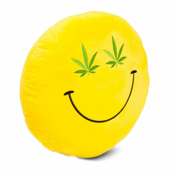Plüss Emoji Párna - Cannabis