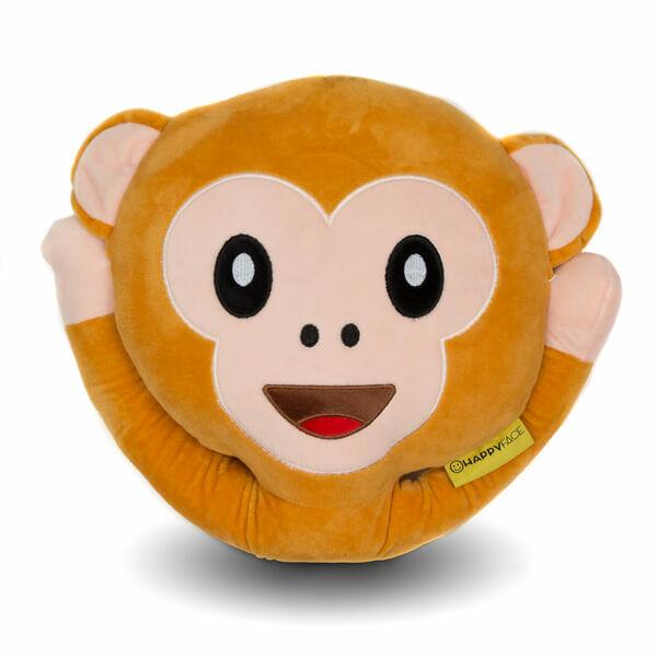 Plüss Emoji Párna - Majom