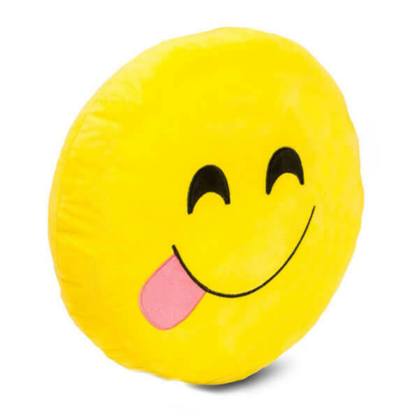 Plüss Emoji Párna - Nyelvkiöltős