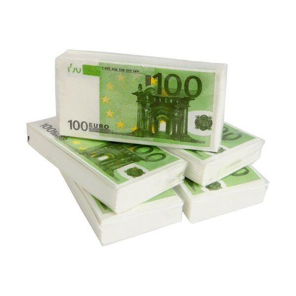 Eurós Papírzsebkendő