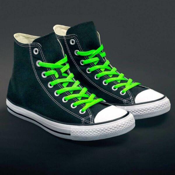 Fluoreszkáló Cipőfűző - zöld