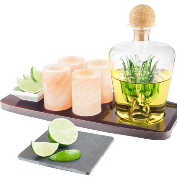Exkluzív Tequila Kínáló Hilamájai Só poharakkal