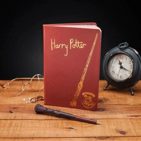 Harry Potter Jegyzetfüzet Varázspálca Tollal