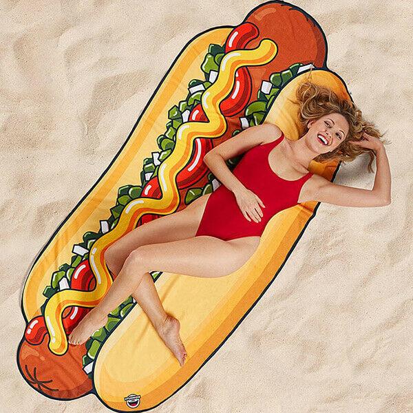 Hot Dog Óriás Strandtörölköző