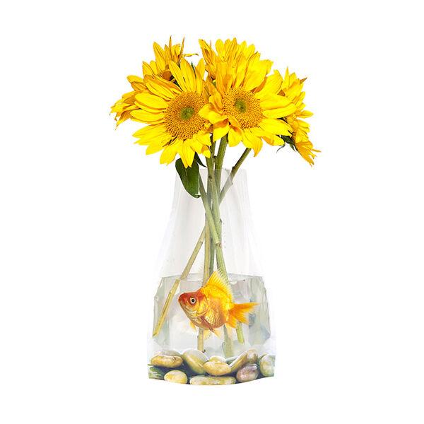 Instant Váza - aranyhallal
