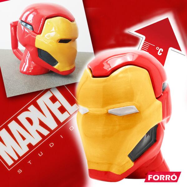 Iron Man 3D Bögre Hőreagens