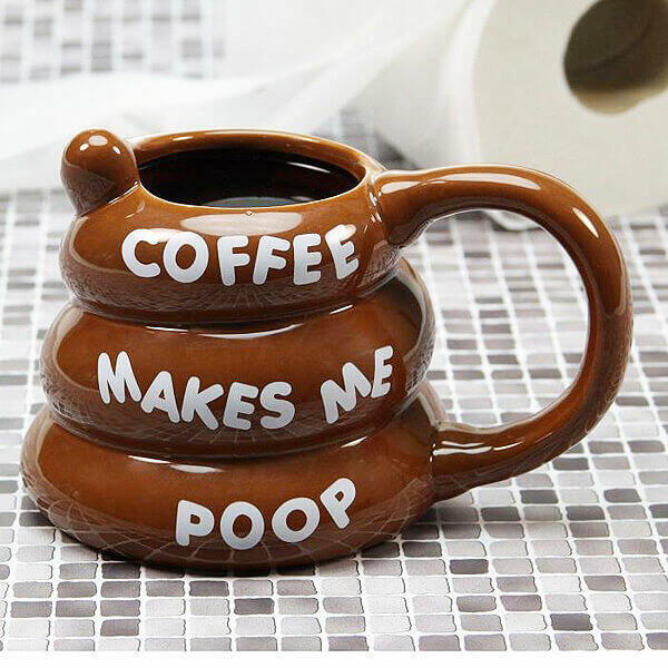 Coffee Makes Me Poop bögre