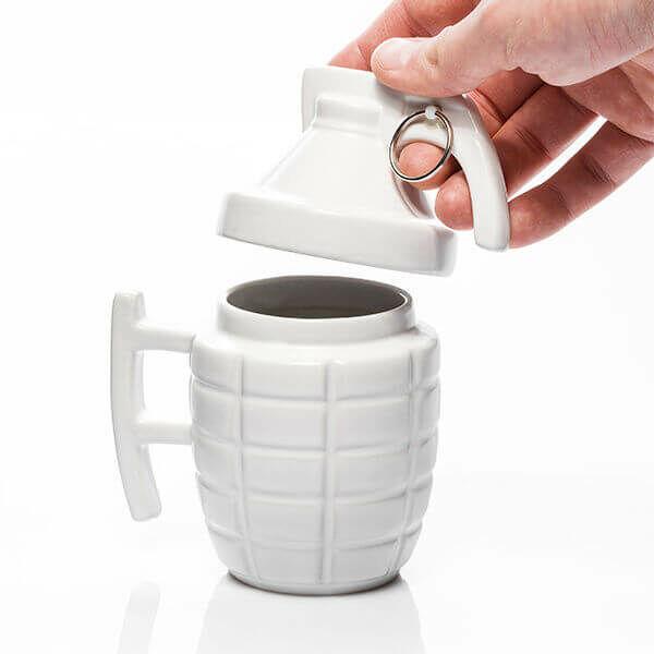 Gránát Kávés Bögre - fehér
