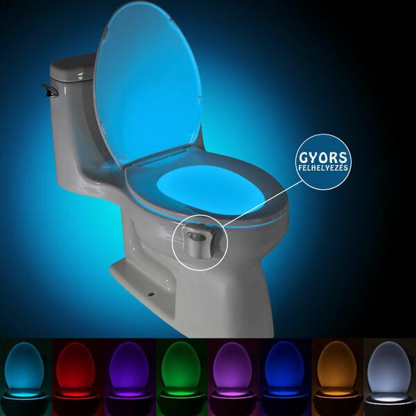 Mozgásérzékelős WC Fény