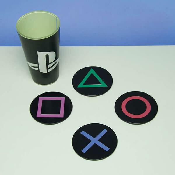 Playstation Nyomógomb Poháralátétek