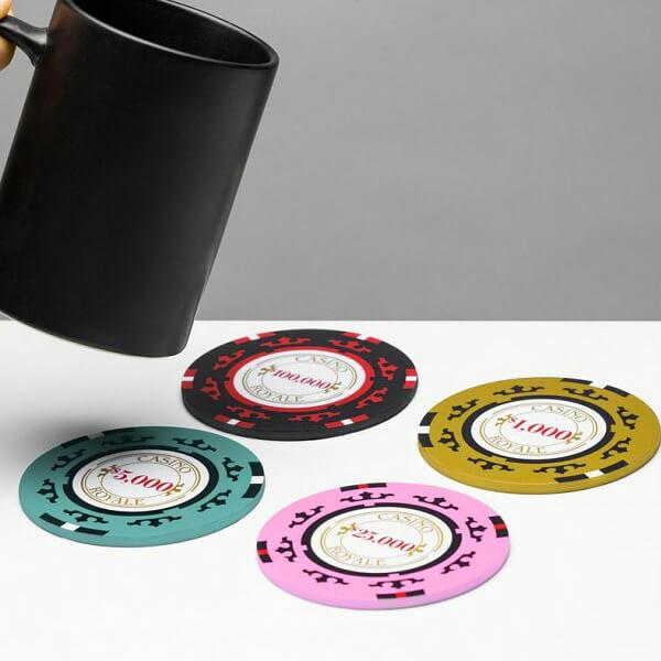 Casino Royal Póker Zseton poháralátét