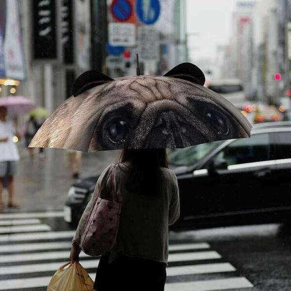 Realisztikus 3D Esernyő - Mopsz