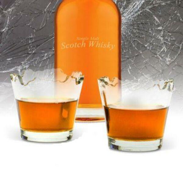 Törött Whisky-s Poharak