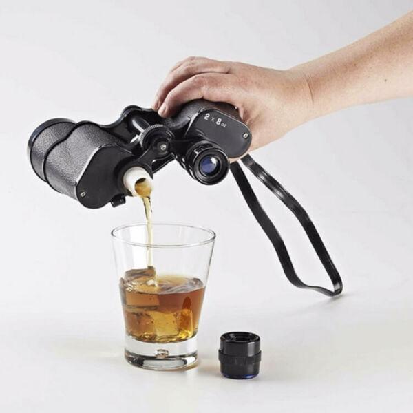 Trükkös távcső italos flaska