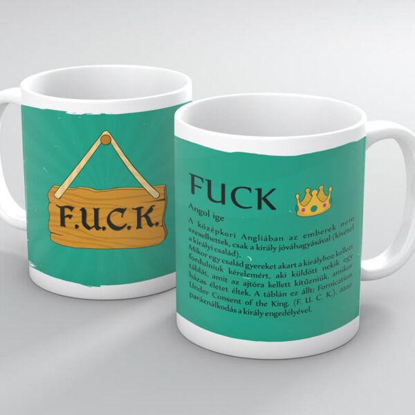 Vicces Bögre - FUCK