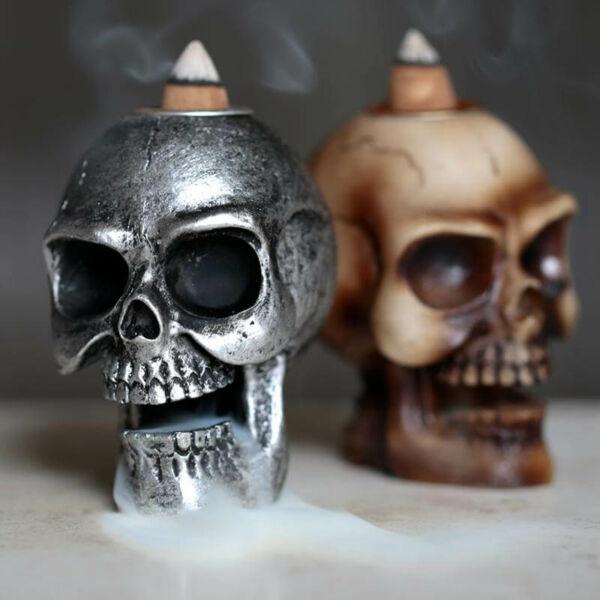 Vízesés hatású füstölő égető koponya