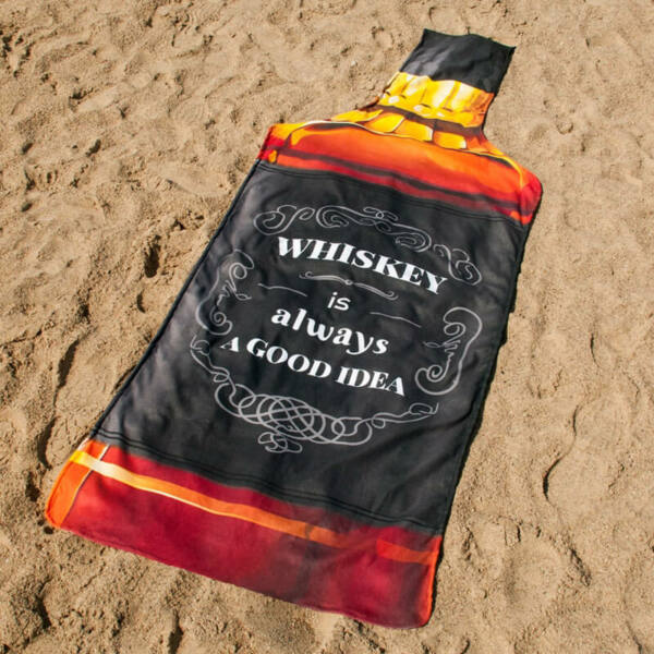 Whiskey Üveg Strand Törölköző