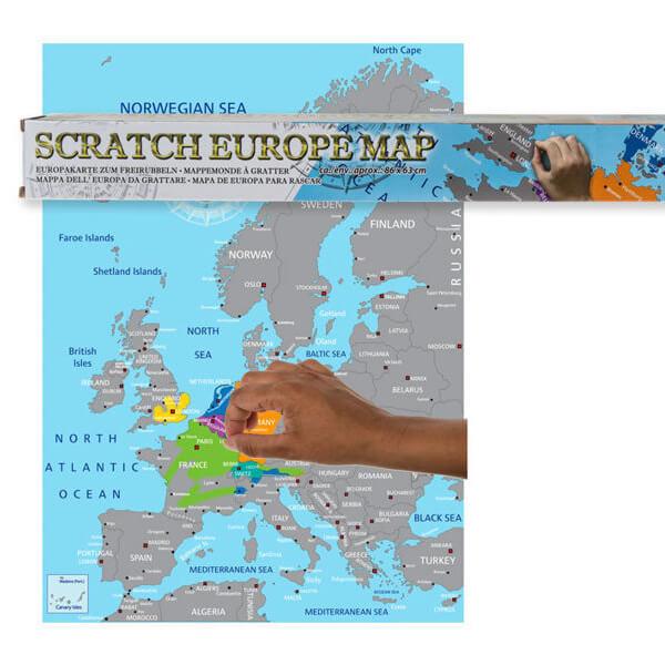 európa kaparós térkép Az Európa Kaparós Térkép zseniális ajándék örök utazóknak!